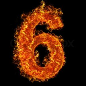 2126673-954673-fire-number-6-on-a-black-background