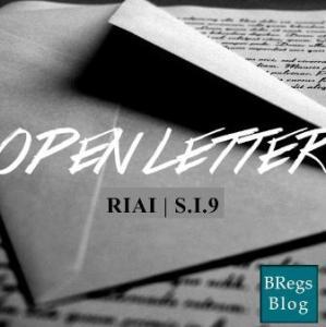 Open Letter RIAI